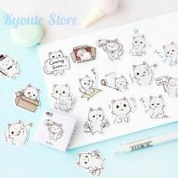 Sticker Deco Cool Cat Deco Emoji Bujo Scrapbook DIY Journaling Cute