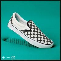 Original Vans Comfycush Slip On Checkerboard Sepatu Vans Slip on