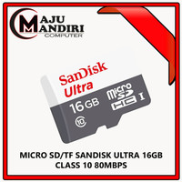 SanDisk Ultra Microsd 16GB 80MB/s - No Adapter
