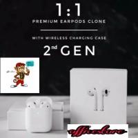 High Copy Airpods2 Gen 1 Pop Up Airpod dengan Case Charger untuk iOS - Putih