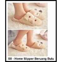 S8 Sandal Rumah Sandal Kamar Home Slipper Slippers Bulu Indoor Dalam