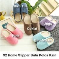 S2 Sendal Rumah Basic Bulu Kain Sandal Kamar Home Slipper Indoor Dalam