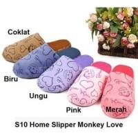 S10 Sendal Rumah Monkey Love Sandal Kamar Home Slipper Slippers Indoor