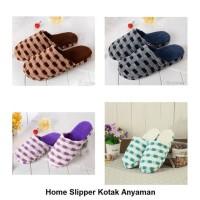 Sendal Rumah Kotak Anyaman Sandal Kamar Home Slipper Slippers Indoor