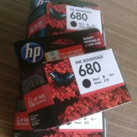catridge tinta HP 680 Original BLACK hitam