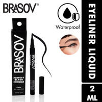 BRASOV Pensil Eyeliner 2 ML Perfect Black Waterproof Liquid Eye Liner