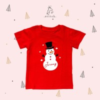 Snowman Name Christmas Kids T Shirt | Kaos Natal Anak Manusia Salju