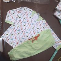 baju celana anak tidur hijau arrow panjang giraffe 1.5 1 2 3 tahun