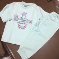 baju celana tidur anak panjang arrow apple star fish hijau 3 tahun