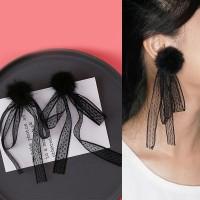 Pompom Lace Earrings 0300FCr