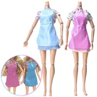 Saha 3Pcs/Set Mainan Baju+Rok+Apron Boneka Barbie U Anak Perempuan