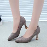 IELGY Sepatu High Heels Stiletto Ujung Lancip