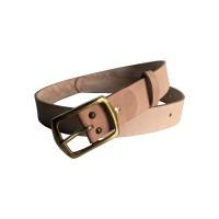 Ikat Pinggang Sabuk Kulit Vegtan Natural Leather Belt Gesper BV103