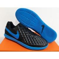 Sepatu Futsal Nike Tiempo Legend 8 Club Black Blue