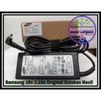 ADAPTOR CHARGER LAPTOP SAMSUNG 19V 3.16A ORIGINAL (Small Plug)