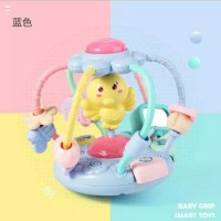 Mainan Bola Rattle Musik Lampu Theeter Bayi Edukasi Baby Chicken Ball - Random