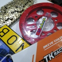 gear SET SINNOB Rantai TK NEW CBR 150 6 LUBANG BAUT K45N PREMIUM