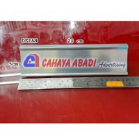 Name Plate Holder | Name Desk | Sliding Sign Holder Meja Aluminium