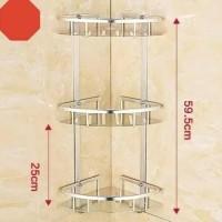 [Hb281] Rak sudut kamar mandi segitiga 3susun