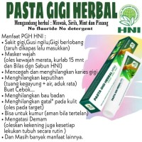 Pasta Gigi Herbal Siwak sirih Mint HNI