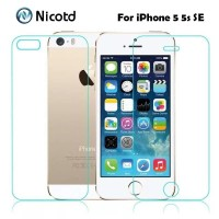 TEMPERED GLASS IPHONE 5 5S SE DEPAN BELAKANG CLEAR HD HIGH QUALITY