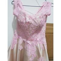 second cocktail dress pink / designer dress / gown / bridal