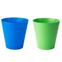[A601] Tempat Tong Sampah Plastik Kecil Warna Warni 6.8L Dust Bin