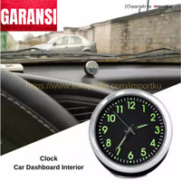 Clock Jam Mobil Analog Dekorasi Interior Dashboard