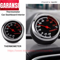 Thermometer Mobil Analog Dekorasi Interior Dashboard