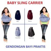 Gendongan Bayi|Anak|Baby|Sling|Carrier|Kado|Lahiran|Hadiah|Melahirkan - Dusty Blue