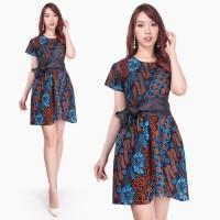 Dress Midi Paxilo Short Dress Batik Wanita