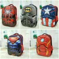 Tas Ransel Tas Sekolah Anak 3D Timbul Superhero Avengers - RANDOM