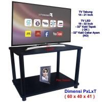Rak TV Minimalis Hitam 2 Susun ( RS2-4060 ), Rak TV Murah, Meja TV, le