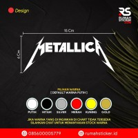 Sticker / Stiker Cutting Mobil / Motor / Custom Rock Band METALLICA
