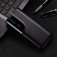 Power Bank Quick Charger LCD Display 3 USB Port 20000mAh Black