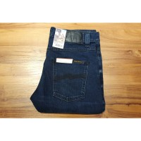 Nudie Jeans Lean Dean Nearly Dry (Indigo x Black Denim)