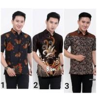 Kemeja Batik Pria Lengan Pendek 2 Baju Batik Pria Hem Batik Cowok