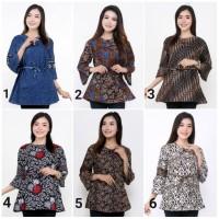 Baju Batik Wanita 2 Atasan Batik Wanita Blouse Batik Wanita Terbaru