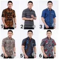 Kemeja Batik Pria Lengan Pendek 3 Baju Batik Pria Hem Batik Cowok