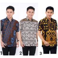 Kemeja Batik Pria Lengan Pendek 1 Baju Batik Pria Hem Batik Cowok