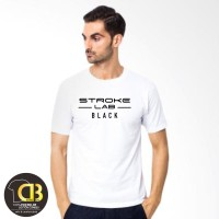 Premium T-Shirt Kaos Baju Distro Pria Wanita Round Neck 115A