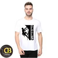 Kaos Baju Distro Pria Wanita T-Shirt Premium Round Neck Climbing 95A