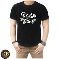 T-Shirt Premium Round Neck Kaos Baju Distro Pria Wanita 90A