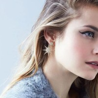 Inner 1Pc Fashion Ear Drop Earring Rhinestone Snowflake Dangle