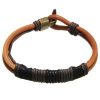 Inner Vintage Men's Leather Rope Tribal Braided Bangle