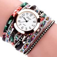 Inner DUOYA XR1886 Retro Style Bracelet Watch Flower Picture
