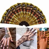 Inner 5pcs Black Natural Herbal Henna Cone Temporary Tattoo Body