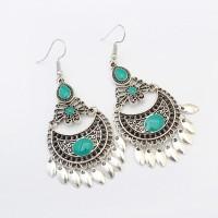 Inner Ethnic Crescent Drop Earring Fashion Hollow Earrings Retro