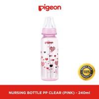 Botol Susu Bayi PIGEON PP Clear RP 240Ml - Pink