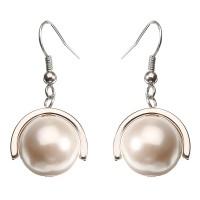 Inner JASSY Pearl Pendant Earrings Rose Gold and Platinum Plated